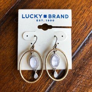 Lucky Brand Boho Semi Precious Accent Earrings NWT